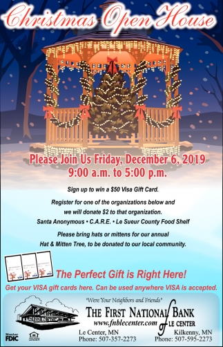 Christmas Open House - December 6