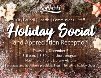Holiday Social and Appreciation Reception
