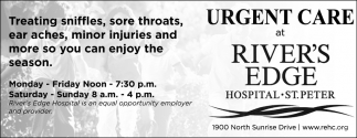 Urgent Care at River's Edge has MOVED!