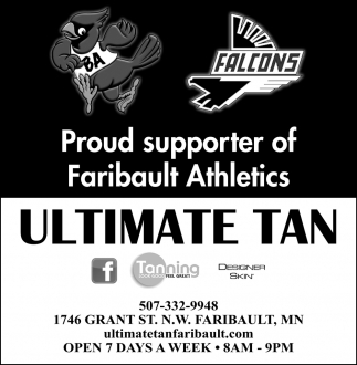 Proud supporter of Faribault Athletics