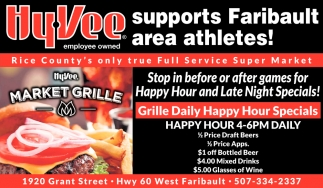 Hy-Vee supports Faribault area athletes