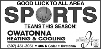 Good Luck To All Area Sports Teams This Season