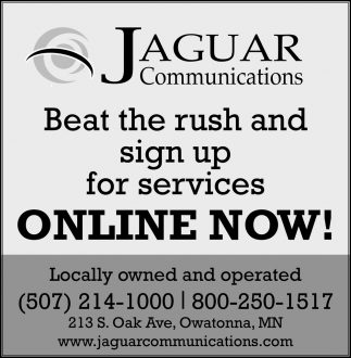 Beat the rush and sign up for services