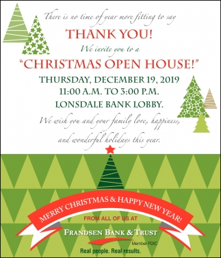 Christmas Open House - December 19