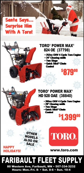 Santa Says... Surprise Him With A Toro