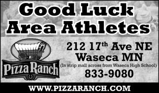 Good Luck Area Athletes