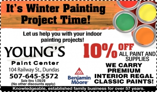 10% Off All Paint and Supplies