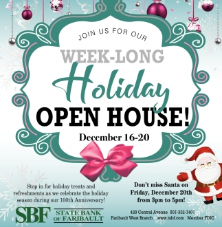 Week Long - Holiday Open House
