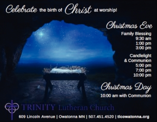 Celebrate the birth of Christ at worship!