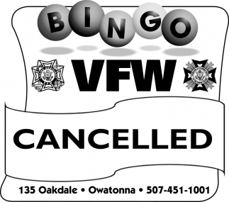 Bingo VFW - Cancelled