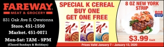 Special K Cereal - Buy Bone Get One Free