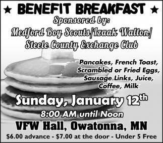 Benefit Breakfast - January 12th