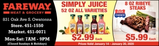 Simply Juice 52 OZ All Varieties