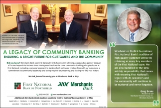 A Legacy of Community Bank