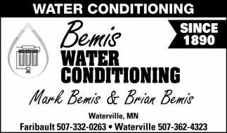 Water Conditioning - Since 1890