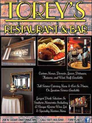 Full Service Catering Menu & Bar In House