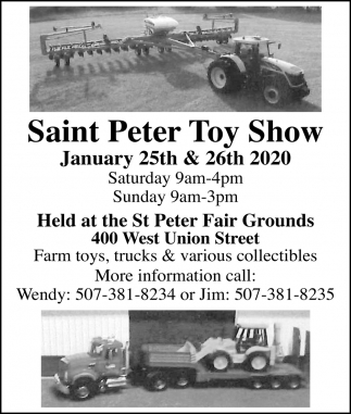 Held at the St. Peter Fair Grounds