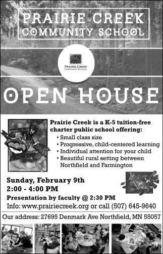 Open House - Febrauary 9th