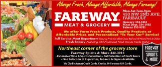 Always Fresh, Always Affordable, Always Fareway!