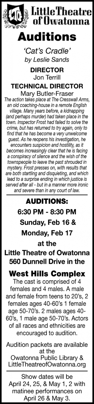 auditions - Cat's Cradle