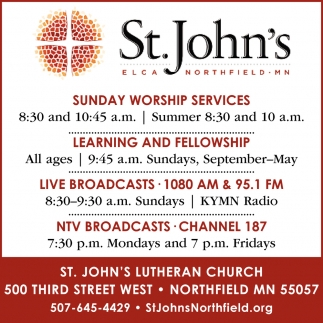 Sunday worship Services - Learning and Fellowship