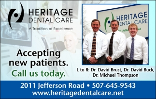 Accepting new patients. Call us today
