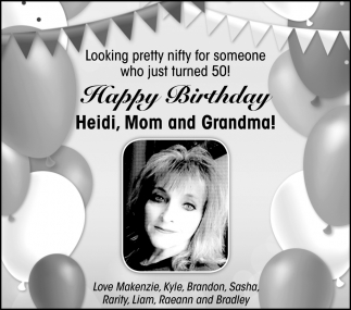 Happy 50th Birthday Heidi