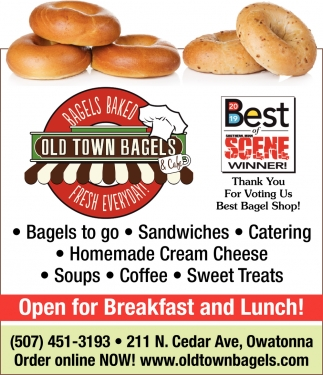 Best of Scene - Thank You For Voting Us Best Bagel Shop