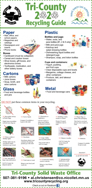 Tri-County 2 - 2 Recycling Guide
