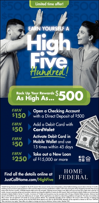 Earn Yourself A High Five Hundred!