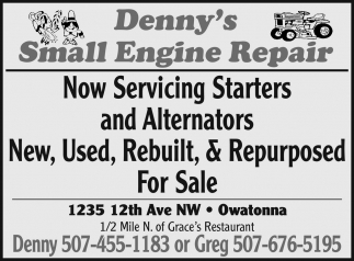 Now Servicing Starters and Alternators