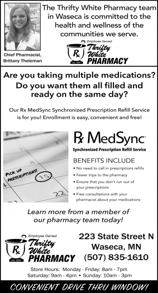 Our Rx MedSync Synchronized Prescription Refill Service is for you!