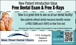 Free Dental Exam & Free X-Rays