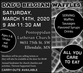 Dad's Belgian Waffles - March 14th