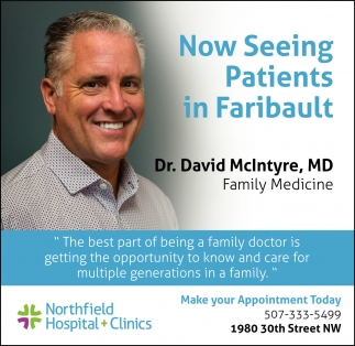 Now Seeing Patients in Faribault