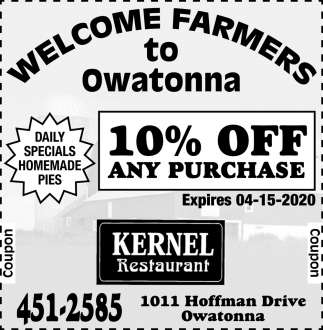 Welcome Farmers to Owatonna
