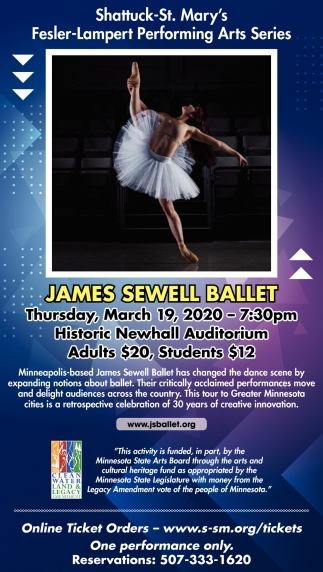 Fesler-Lampert Arts Series - James Sewell Ballet