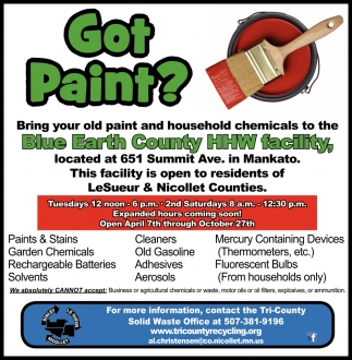 Bring your old paint and household chemicals