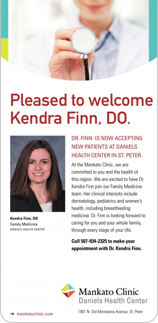 Pleased to welcome Kendra Finn, DO