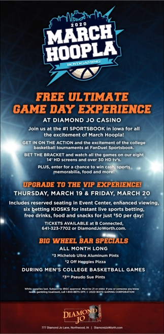 2020 March Hoopla - Free Ultimate Game Day Experience