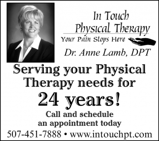 Serving your Physical Therapy needs for 24 years!