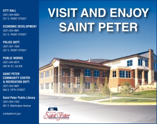 Visit and Enjoy Saint Peter