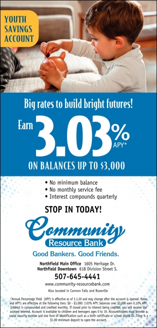 Big Rates To Build Bright Futures!