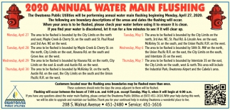 2020 Annual Water Main Flushing