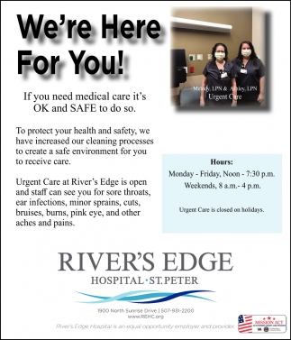 We're Here for You!