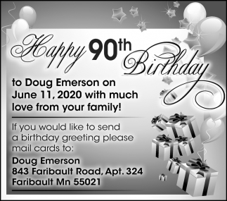 Happy 90th Birthday Doug Emerson
