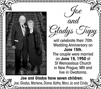 Joe and Gladys Wedding Anniversary