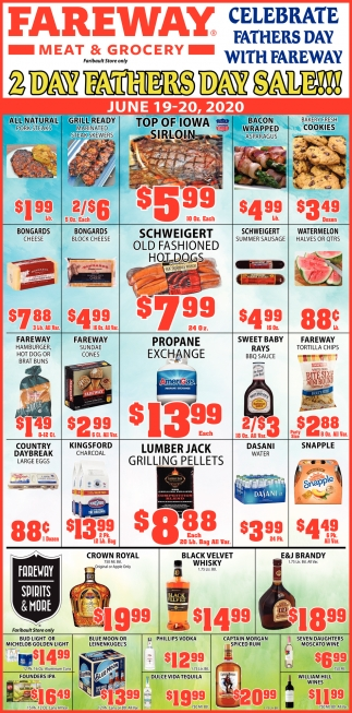 Celebrate Fathers Day with Fareway