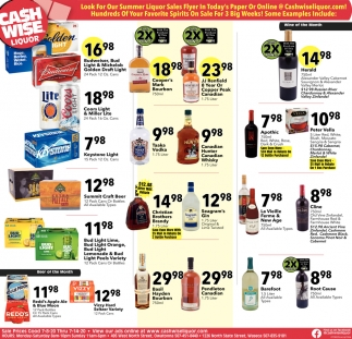 Look for Our Summer Liquor Sales Flyer in Today's Paper or Online