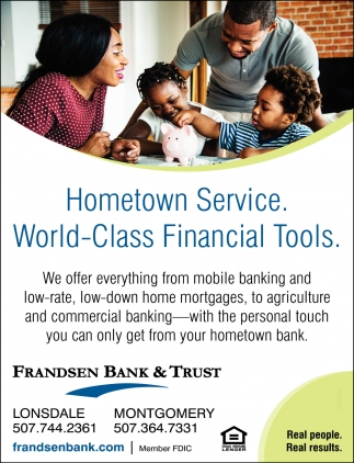 Hometown Service. World-Class Financial Tools